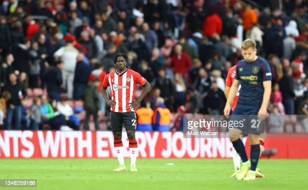Mohammed Salisu of Southampton during the Premier League match between Southampton and Burnley at St Mary's Stadium on October 23, 2021 in...