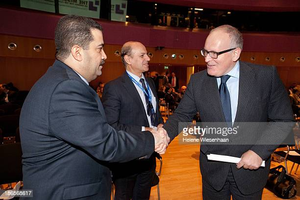 Mohammed Sha'a Al Sudani Sabah Ahmed Mohammed and Frans Timmermans attend the International Commission on Missing Persons on day 4 in the Peace...