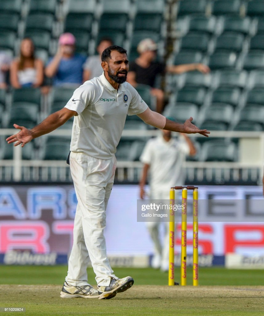 Mohammed Sham i of India during day 4 of the 3rd Sunfoil Test match between South Africa and India at Bidvest Wanderers Stadium on January 27, 2018 in Johannesburg, South Africa.