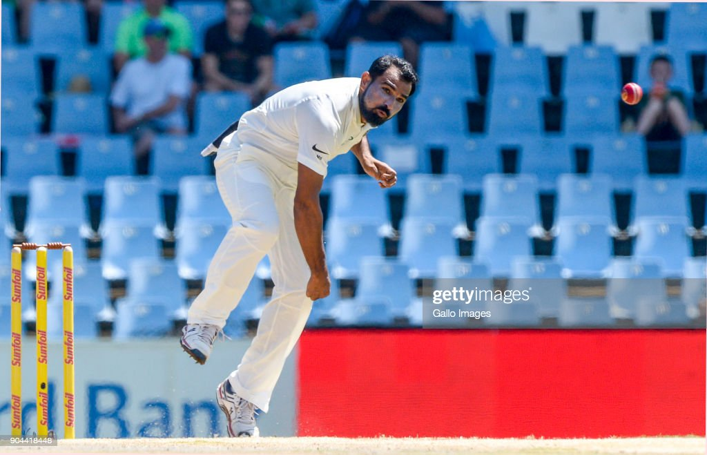 Mohammed Shami of India during day 1 of the 2nd Sunfoil Test match between South Africa and India at SuperSport Park on January 13, 2018 in Pretoria, South Africa.