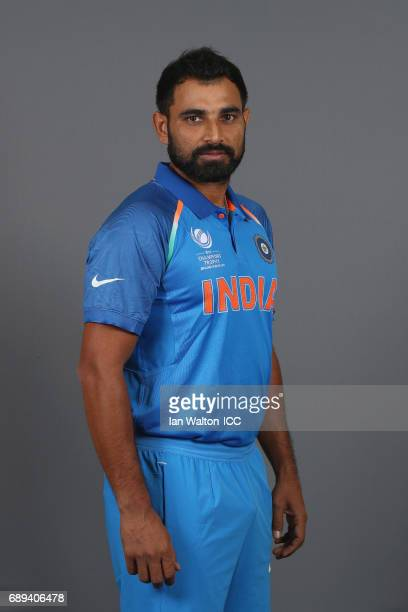 Mohammed Shami of India poses during an India Portrait Session ahead of ICC Champions Trophy at Grange City on May 27 2017 in London England