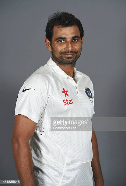Mohammed Shami of India poses on July 7 2014 in NottinghamEngland