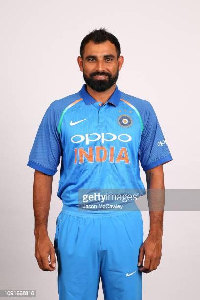 Mohammed Shami poses during the India Men's ODI Headshots Session on January 09 2019 in Sydney Australia