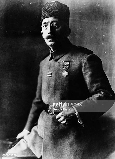 Mohammed VI also known as the Mehmed Vehideddin the last Caliph of the Ottoman Empire is shown in a waistup portrait wearing uniform Undated