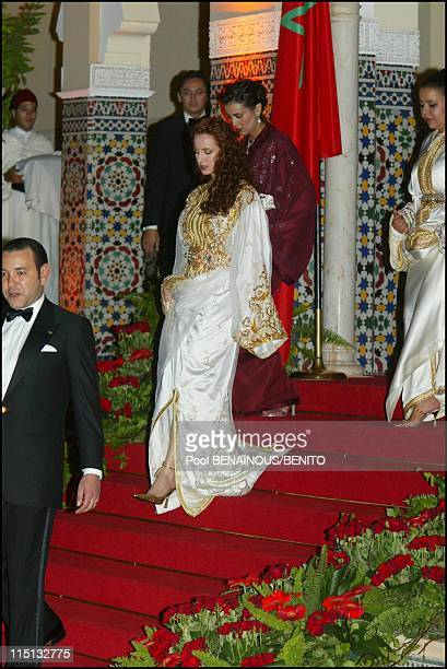 Mohammed VI and his wife Salma at the Marrakech film festival in Morocco on September 19, 2002.