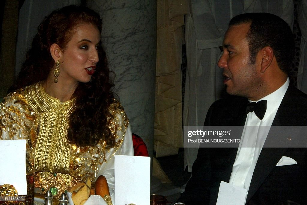 Mohammed Vi And His Wife Salma At The Marrakech Film Festival In Morocco On September 19, 2002. : News Photo