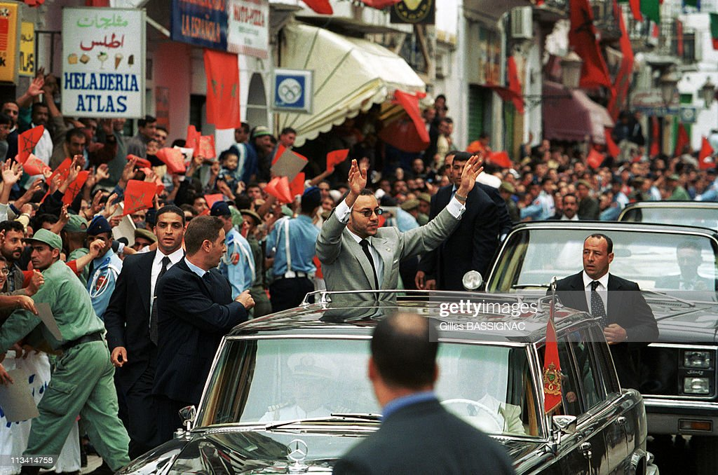 Mohammed VI In The Provinces Of North On October 1st, 1999 In Morocco : News Photo