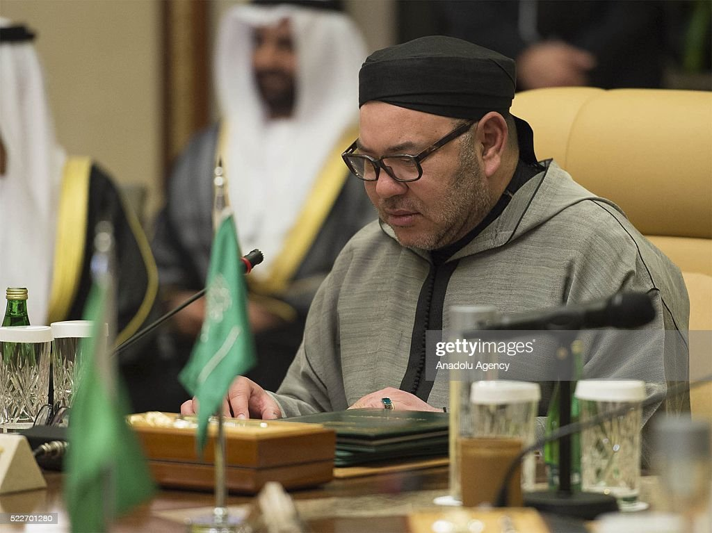 Mohammed VI of Morocco attends the GCC-Morocco Summit in Riyadh, Saudi Arabia on April 20, 2016.