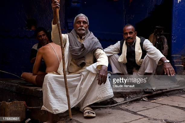 Mohan Lal. He came to Varanasi from a nearby village with his family for a funeral. Shot near Manikarnika ghat in Varanasi. Uttar Pradesh.