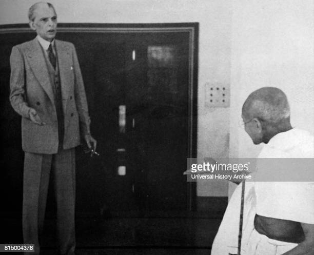 Mohandas Karamchand Gandhi and Mohammed Ali Jinnah during their talks with the Viceroy November 1939 Jinnah became the first leader of Pakistan...