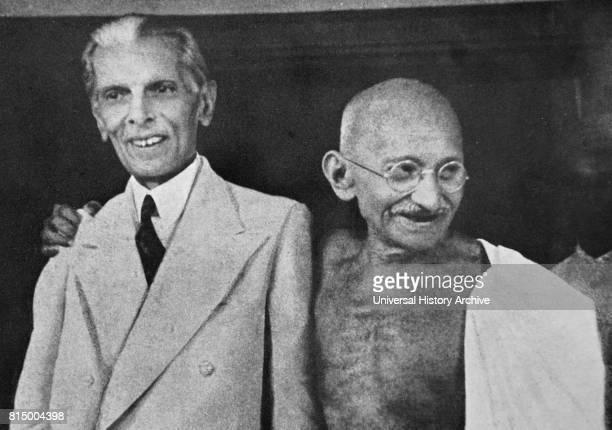 Mohandas Karamchand Gandhi and Mohammed Ali Jinnah during their talks in Mumbai 1944 Jinnah became the first leader of Pakistan Gandhi was the...