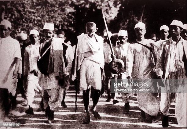 Mohandas Karamchand Gandhi preeminent leader of Indian independence movement in Britishruled India