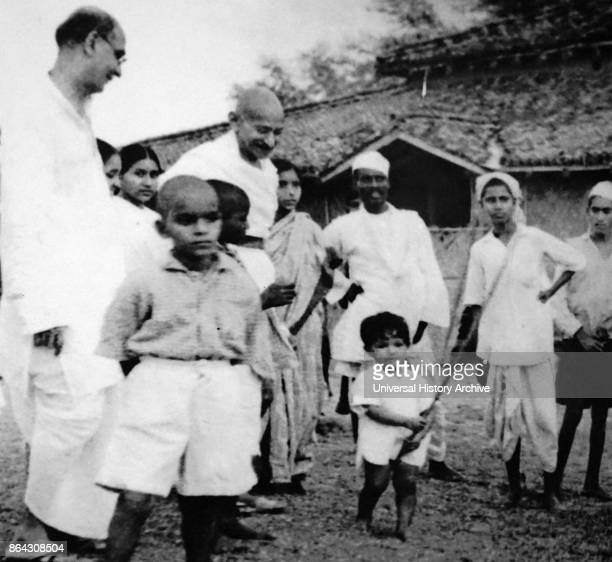 Mohandas Karamchand Gandhi preeminent leader of the Indian independence movement in Britishruled India