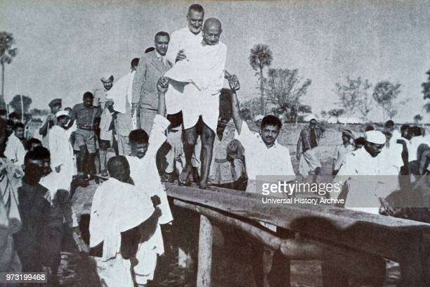 Mohandas Karamchand Gandhi. Touring India during the partition riots following Independence 1947. Gandhi . Was the preeminent leader of the Indian...