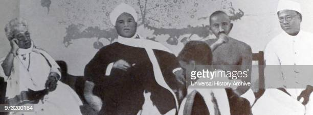 Mohandas Karamchand Gandhi With Annie Besant Srinivasa Sastri and Satyamurthi 1917 Gandhi was the preeminent leader of the Indian independence...