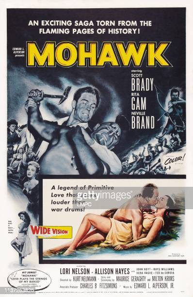 Mohawk poster US poster art bottom left and above Allison Hayes Lori Nelson 1956