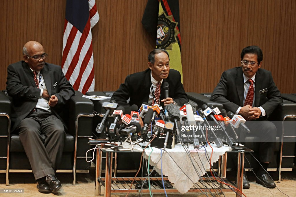 Malaysian Anti-Corruption Commission Chief Commissioner Mohd Shukri Abdull News Conference