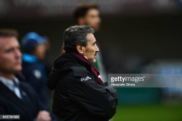 Mohed Altrad President of Montpellier during the French Top 14 match between Montpellier and La Rochelle at Altrad Stadium on April 8 2018 in...