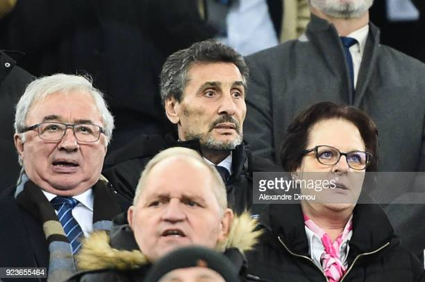 Mohed Altrad sponsor and President of team Montpellier during the NatWest Six Nations match between France and Italy at Stade Velodrome on February...