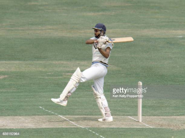 Mohinder Amarnath batting for India during the Prudential World Cup Final between India and West Indies at Lord's Cricket Ground London 25th June...