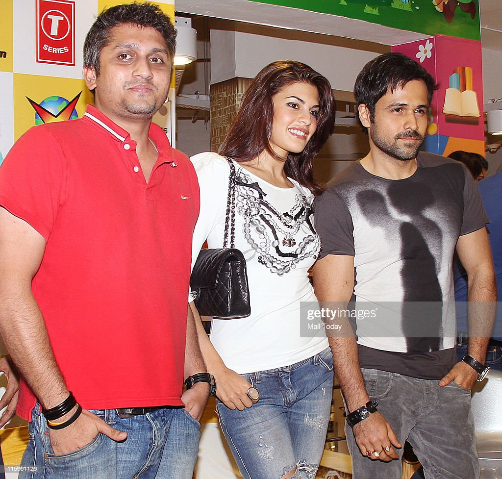 Mohit Suri Jacqueline Fernandez and Emraan Hashmi at the music launch of the movie `Murder 2` at Planet M Mumbai on June 10 2011