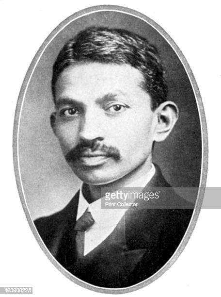 Mohondas Karamchand Gandhi known as Mahatma as a young man Indian Nationalist leader and organiser of the noncooperative movement against British...