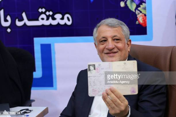 Mohsen Hashemi Rafsanjani, son of former Iranian president Akbar Hashemi Rafsanjani, registers his candidacy for Iran's presidential elections, at...