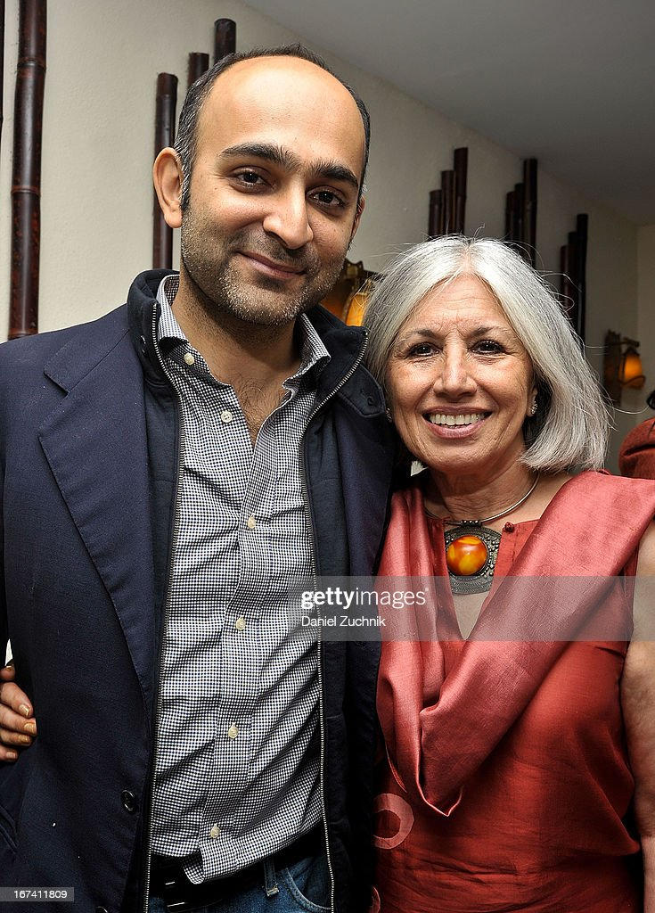 Mohsin Hamid and Aroon Shivdasani attend the after party following 'The Reluctant Fundamentalist' screening during the 2013 New York Indian Film Festival at Yuva on April 24, 2013 in New York City.