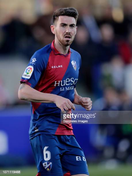 Moi Gomez of SD Huesca during the La Liga Santander match between SD Huesca v Real Madrid at the Estadio El Alcoraz on December 9 2018 in Huesca Spain