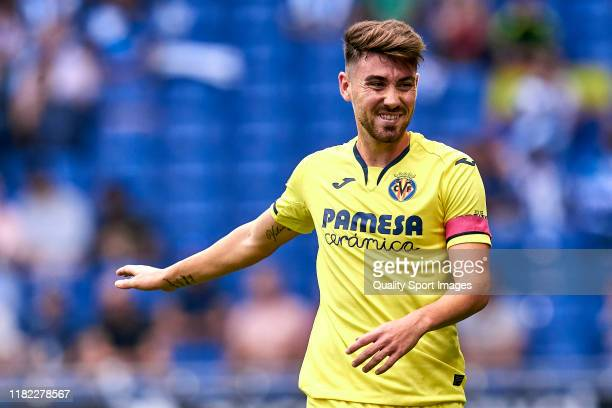 Moi Gomez of Villarreal CF looks on during the Liga match between RCD Espanyol and Villarreal CF at RCDE Stadium on October 20 2019 in Barcelona Spain