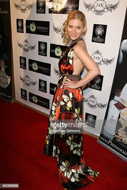 Moira Cue attends the release party for the new Magazine FG at 24 Karat on December 19, 2008 in Los Angeles, California.