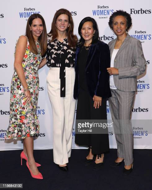 Moira Forbes, Desiree Gruber, Aileen Lee, and Nina Shaw attend the 2019 Forbes Women's Summit at Pier 60 on June 18, 2019 in New York City.