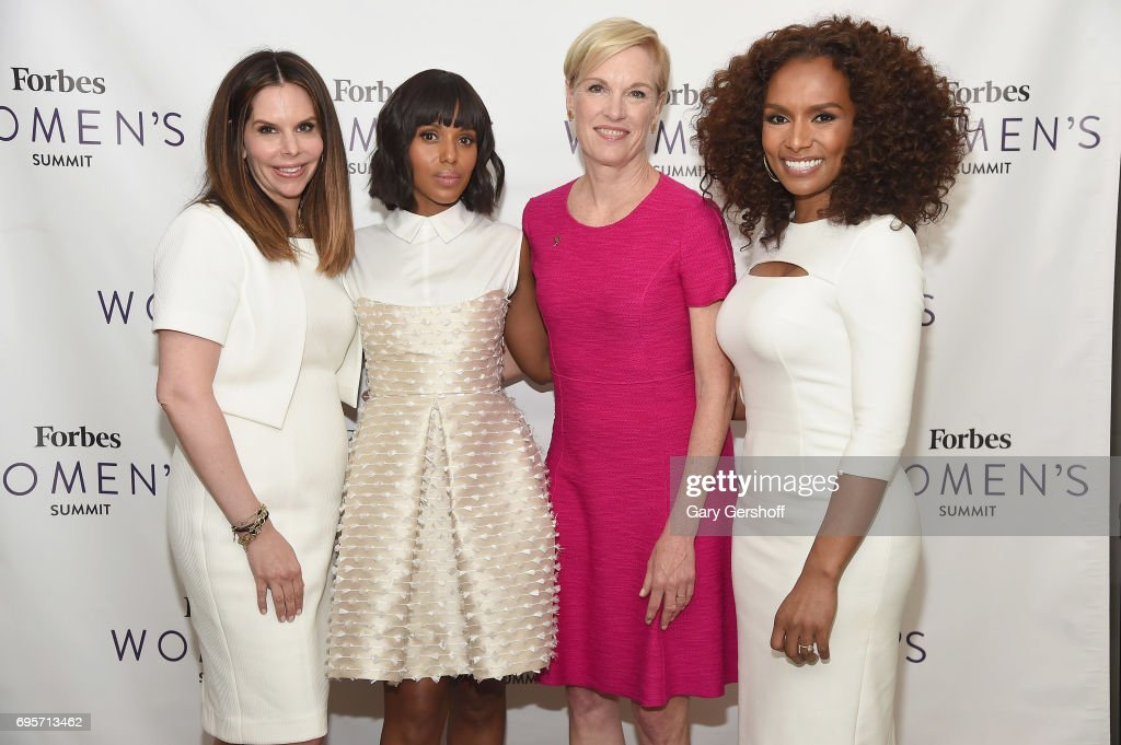 Moira Forbes, Kerry Washington, Cecile Richards and Janet Mock attend the 2017 Forbes Women's Summit at Spring Studios on June 13, 2017 in New York City.