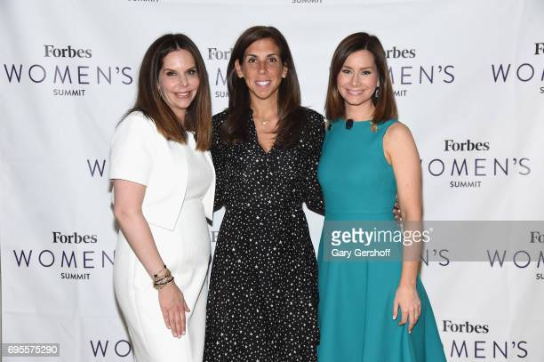 Moira Forbes Melanie Whelan and Rebecca Jarvis attend the 2017 Forbes Women's Summit at Spring Studios on June 13 2017 in New York City