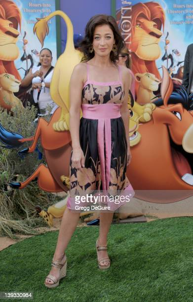 Moira Kelly arrives at the Los Angeles Premiere of The Lion King 3D at the El Capitan Theatre on August 27 2011 in Hollywood California