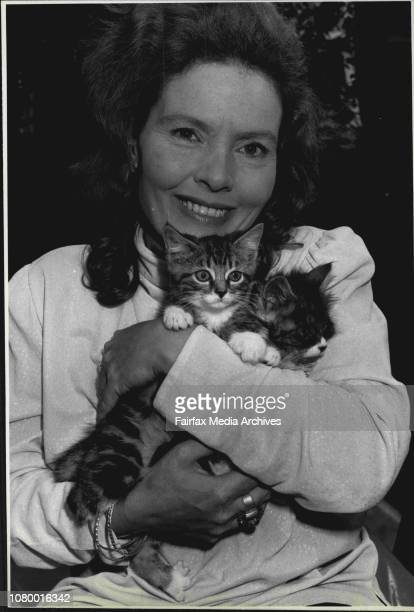 Moira McGhee Sec of the St George Animal welfare league with two kittens who are looking for a home at Christmas ***** of the kittens lost a foot in...