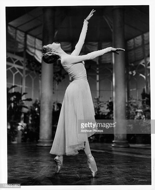 Moira Shearer performs ballet moves in a scene from the film 'The Story Of Three Loves' 1953