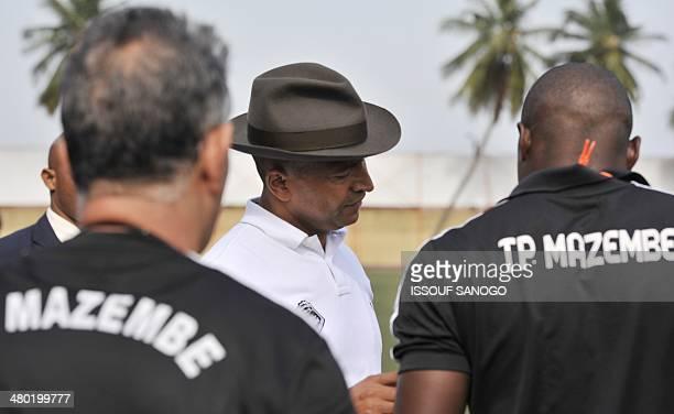 Moise Katumbi the governor of the Katanga region of the Democratic Republic of Congo and president of the TP Mazembe Lubumbashi football club speaks...