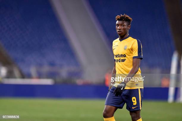Moise Kean of Hellas Verona during the Serie A match between Lazio and Hellas Verona at Olympic Stadium Roma Italy on 19 February 2018