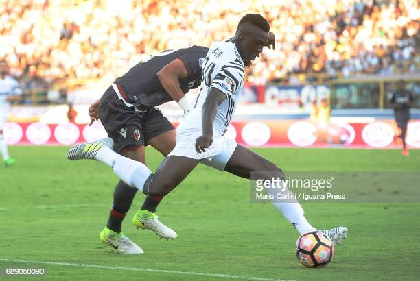 Moise Kean of Juventus FC in action during the Serie A match between Bologna FC and Juventus FC at Stadio Renato Dall'Ara on May 27 2017 in Bologna...