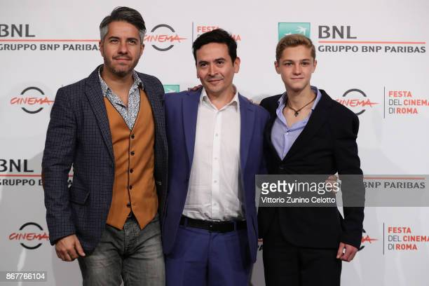 Moises Arizmendi Alejandro Andrade Pease and Emilio Puente attend 'Cuernavaca' photocall during the 12th Rome Film Fest at Auditorium Parco Della...