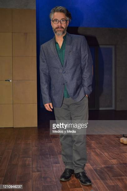Moises Arizmendi poses for photo as part of the play 'Between Pancho Villa and a Naked Woman' at Rafael Solana Theatre on March 6 2020 in Mexico City...