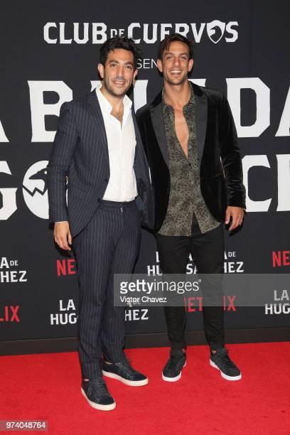 Moises Chiver and Joaquin Ferreira attend Netflix 'La Balada de Hugo Sanchez' special screening at Alboa Patriotismo on June 13 2018 in Mexico City...