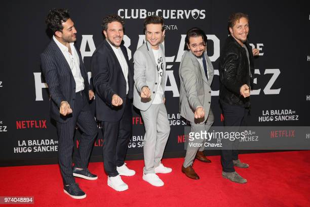 Moises Chiver Mark Alazraki Jesus Zavala Aldo Escalante and Gas Alazraki attend Netflix 'La Balada de Hugo Sanchez' special screening at Alboa...