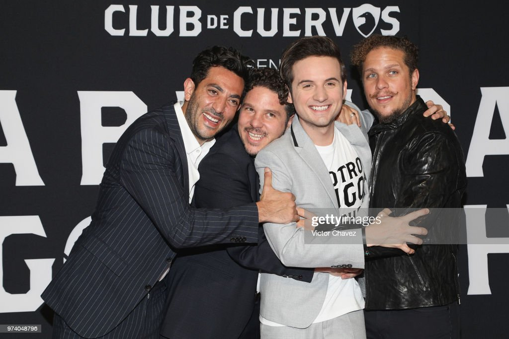 Moises Chiver, Mark Alazraki, Jesus Zavala and Gas Alazraki attend Netflix 'La Balada de Hugo Sanchez' special screening at Alboa Patriotismo on June 13, 2018 in Mexico City, Mexico.