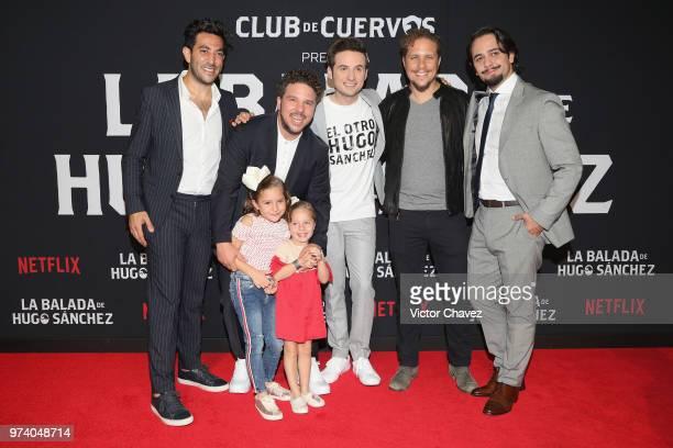 Moises Chiver Mark Alazraki Jesus Zavala Gas Alazraki and Aldo Escalante attend Netflix 'La Balada de Hugo Sanchez' special screening at Alboa...
