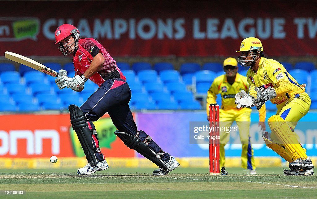 Moises Henriques of the Sixers bats during the Champions League Twenty20 match between Chennai Super Kings and Sydney Sixers at Bidvest Wanderers Stadium on October 14, 2012 in Johannesburg, South Africa.