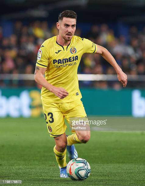Moises Moi Gomez of Villarreal during the La Liga Santander match between Villarreal and Osasuna at Estadio de la Ceramica on February 2 2020 in...