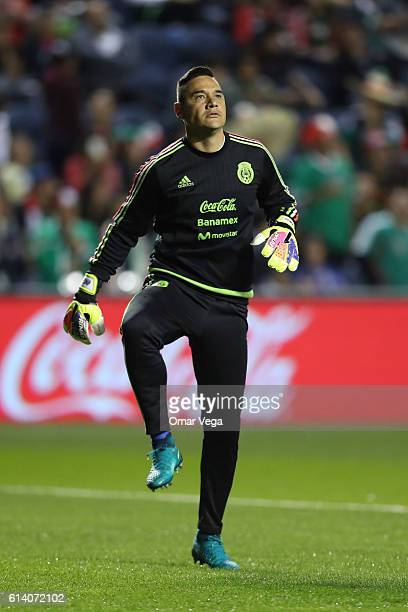 Moises Munoz goalkeeper of Mexico warms up prior the International Friendly Match between Mexico and Panama at Toyota Park on October 11 2016 in...