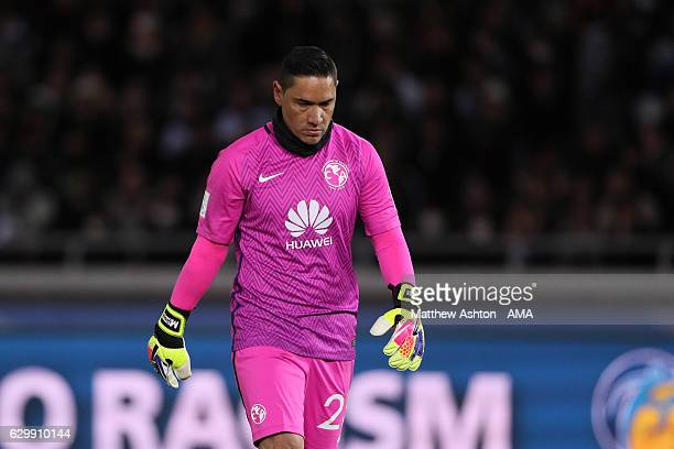 Moises Munoz of Club America looks dejected during the FIFA Club World Cup Semi Final match between Club America and Real Madrid at International...